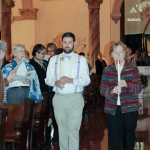 Kyle Meadors in procession during Mass in the Church of the Immaculate Conception.