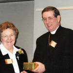 Below, Cleveland Bishop Richard Lennon, right, with Sister Therese Guerin Sullivan, chancellor.